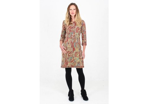 JABA Jaba Clara Dress in Red Paisley