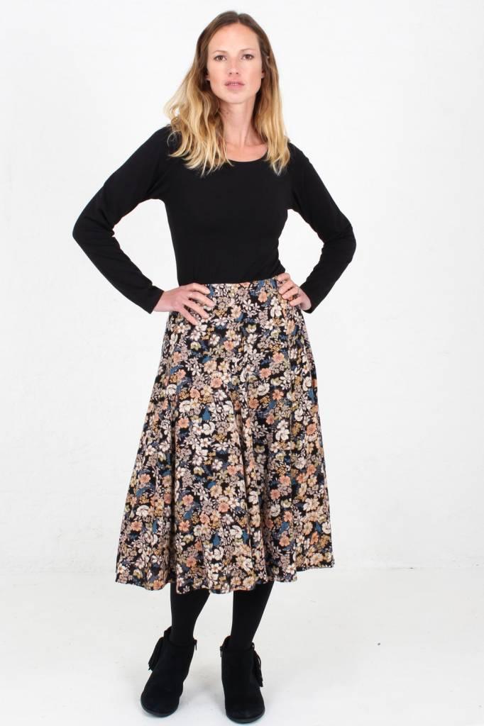 JABA JABA Florence Skirt in Winter Flower