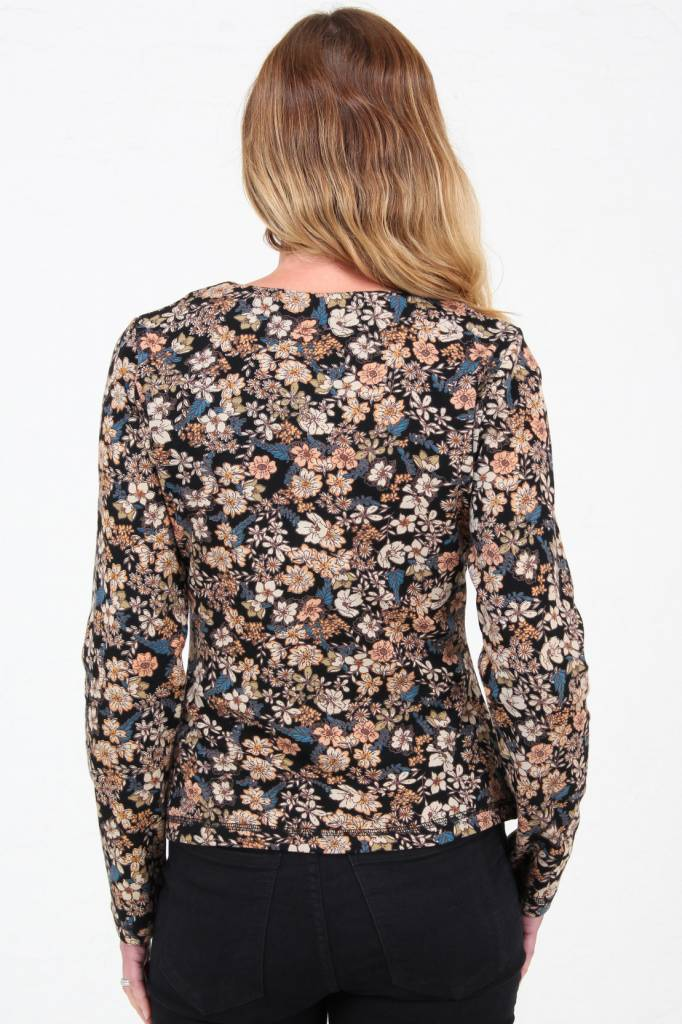 JABA JABA Jersey Cardi in Winter Flower