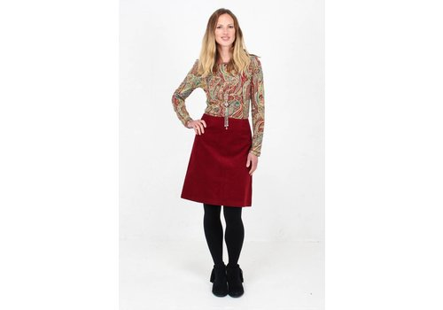 JABA JABA Amy Top in Red Paisley