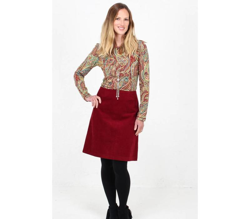 JABA Amy Top in Red Paisley -