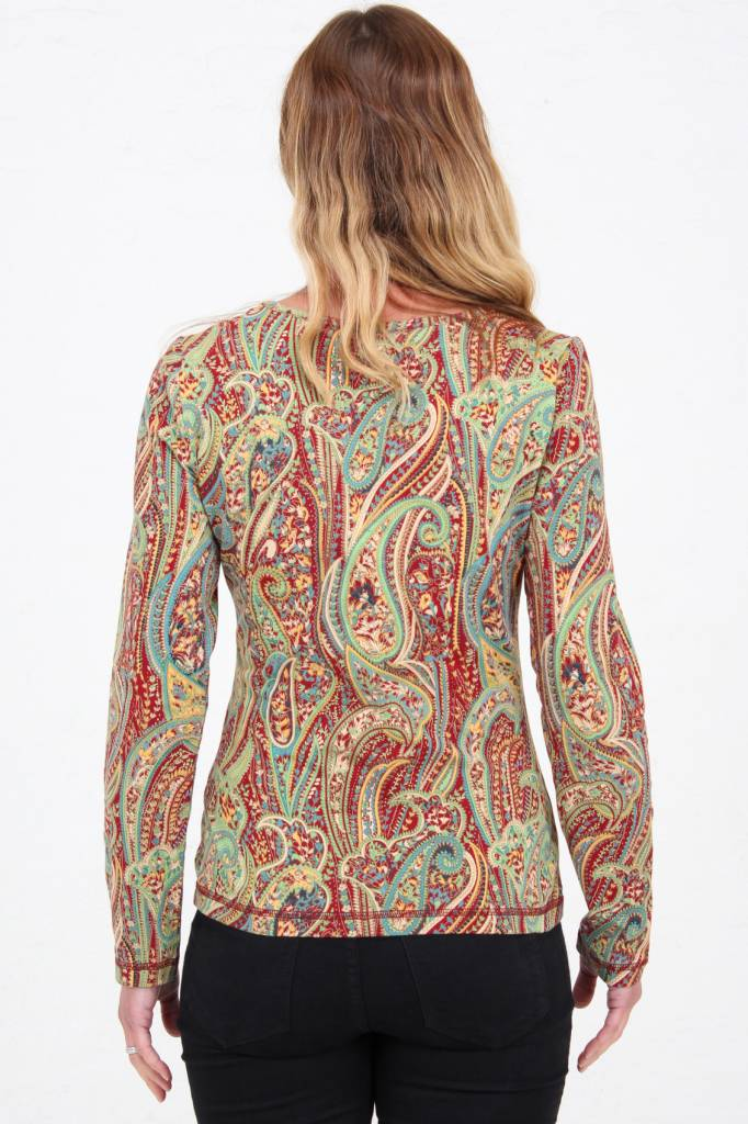 JABA JABA Amy Top in Red Paisley -