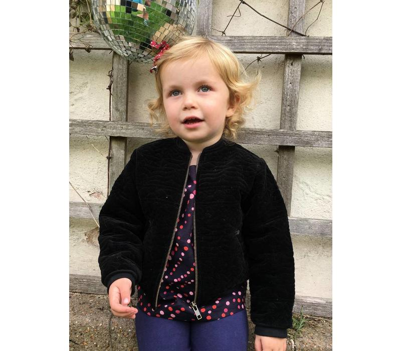 Jaba Kids Olivia Jacket - Black Quilted Velvet