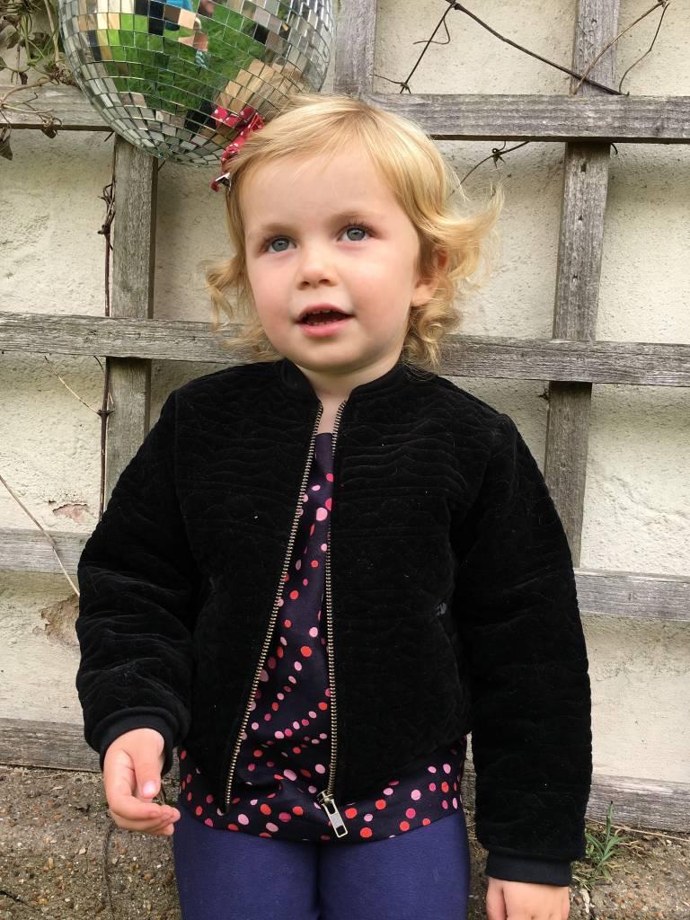 JABA Jaba Kids Olivia Jacket - Black Quilted Velvet
