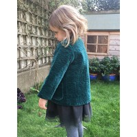 Jaba Kids Sara Jacket - Teal Quilted Velvet