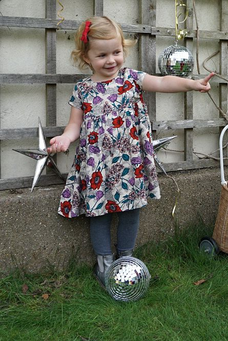 JABA Jaba Kids Thea Dress in Wild Meadow