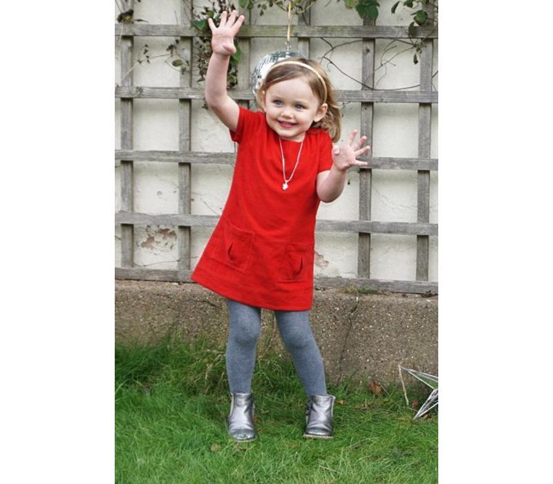 Jaba Kids Evie Dress - PinCord Red