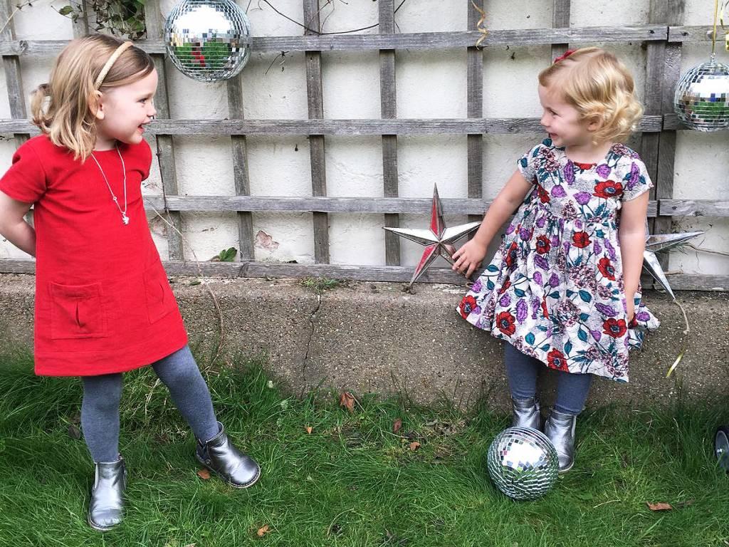 JABA Jaba Kids Evie Dress - PinCord Red