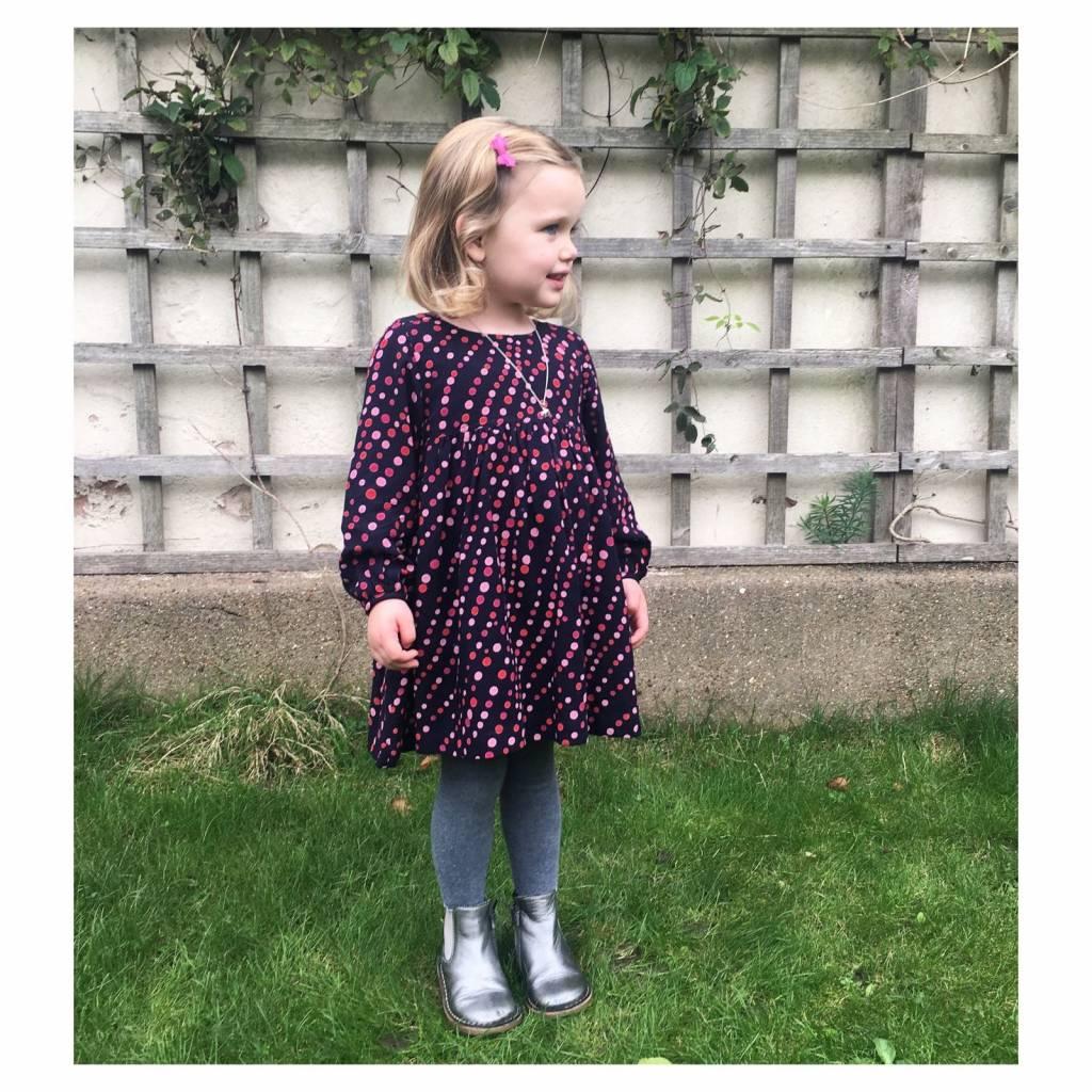 JABA Jaba Kids Phoebe Dress in Spot Print