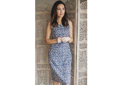 JABA Jaba Emily Dress in Blue Vine