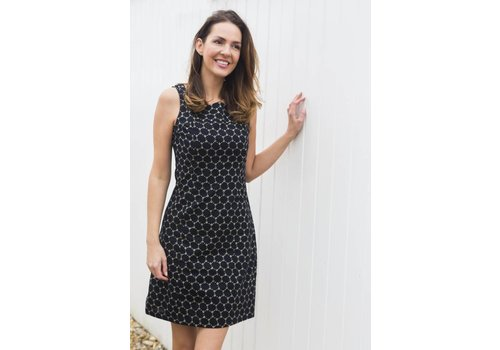 JABA Jaba Nicole Dress in Black Honeycomb