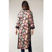 Jaba Long Kimono in Hydrangea Black