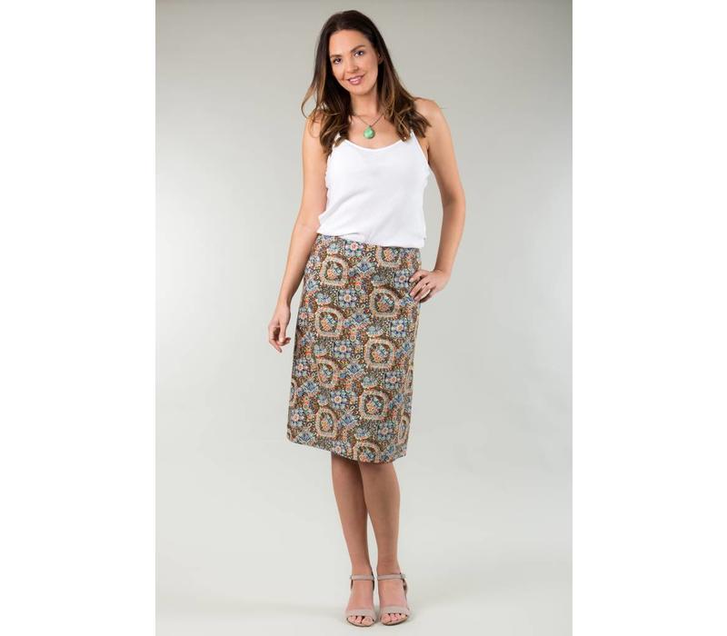 Jaba Lauren Skirt in Aztec