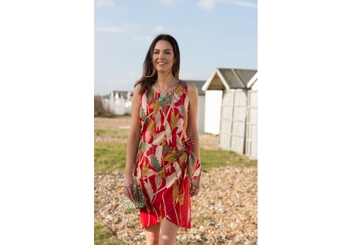 JABA JABA Sarong Dress in Palm Red