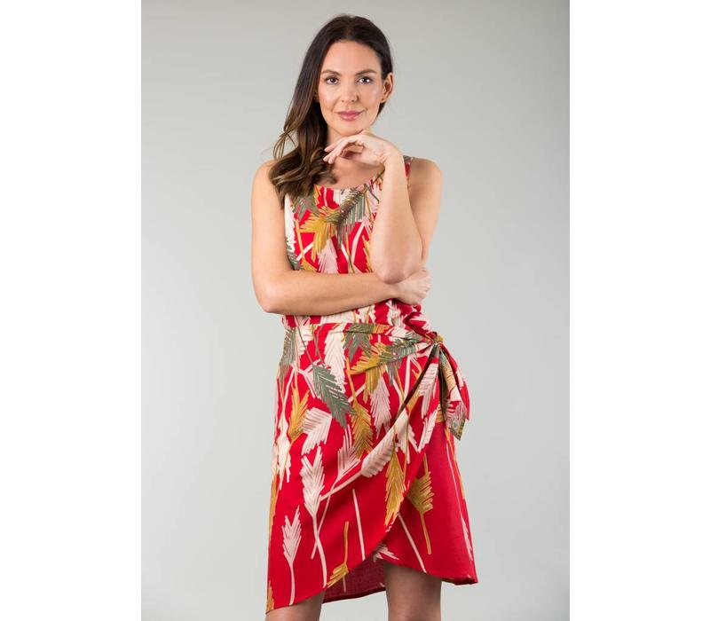 JABA Sarong Dressin Palm Red