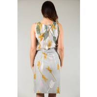 JABA Sarong Dress in Palm Grey