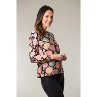 Jaba Long Sleeved Top in Hydrangea Black