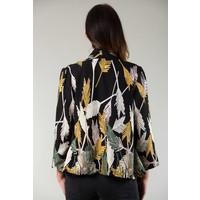 Jaba Kimono Jacket in Black Palm