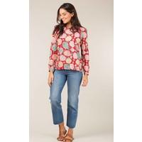 Jaba Long Sleeved Top in Hydrangea Red