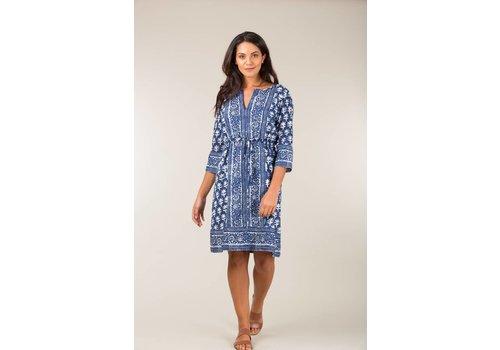 JABA Jaba Grace Dress in Blue Block