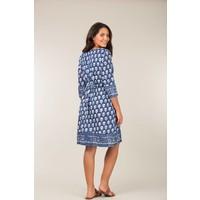 Jaba Grace Dress in Blue Block