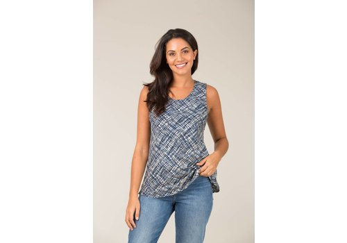 JABA Jaba Tara Top in Abstract Blue