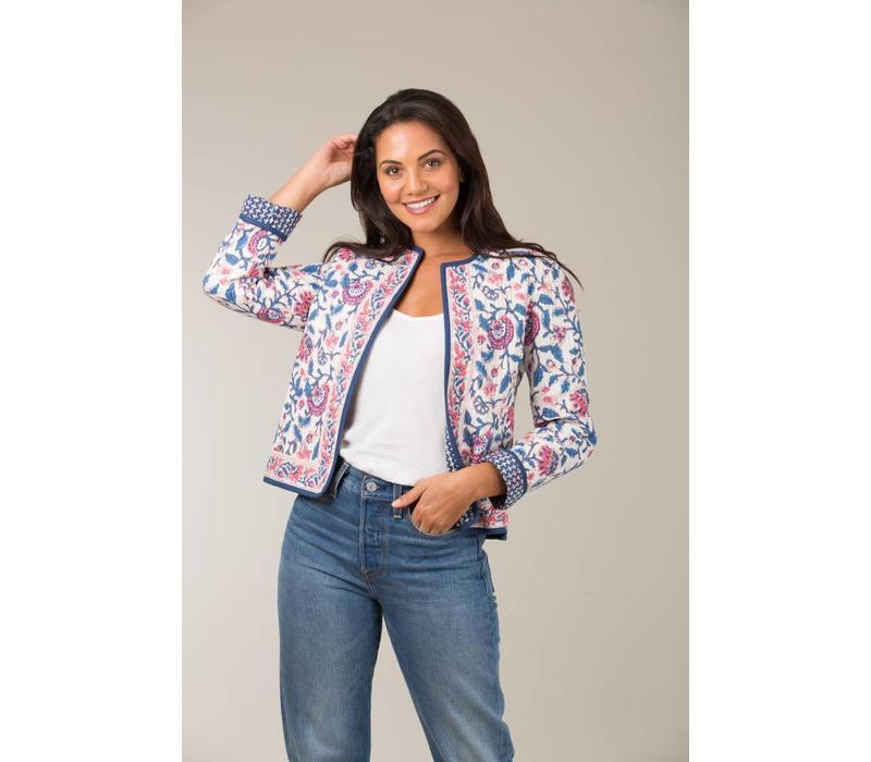 Jaba Reversible Jacket in Pink Block