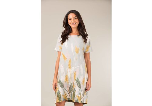 JABA Jaba Etta Dress in Palm Grey