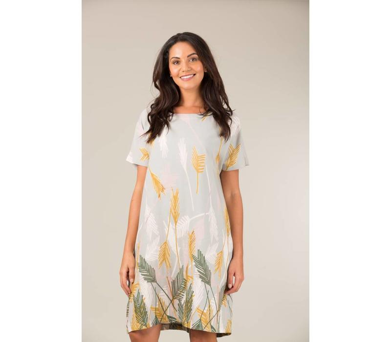 Jaba Etta Dress in Palm Grey