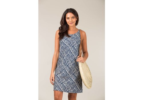 JABA Jaba Audri Dress in Abstract Blue