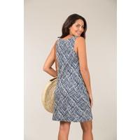 Jaba Audri Dress in Abstract Blue
