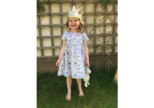 JABA Jaba Kids Thea Dress in Jungle Blue