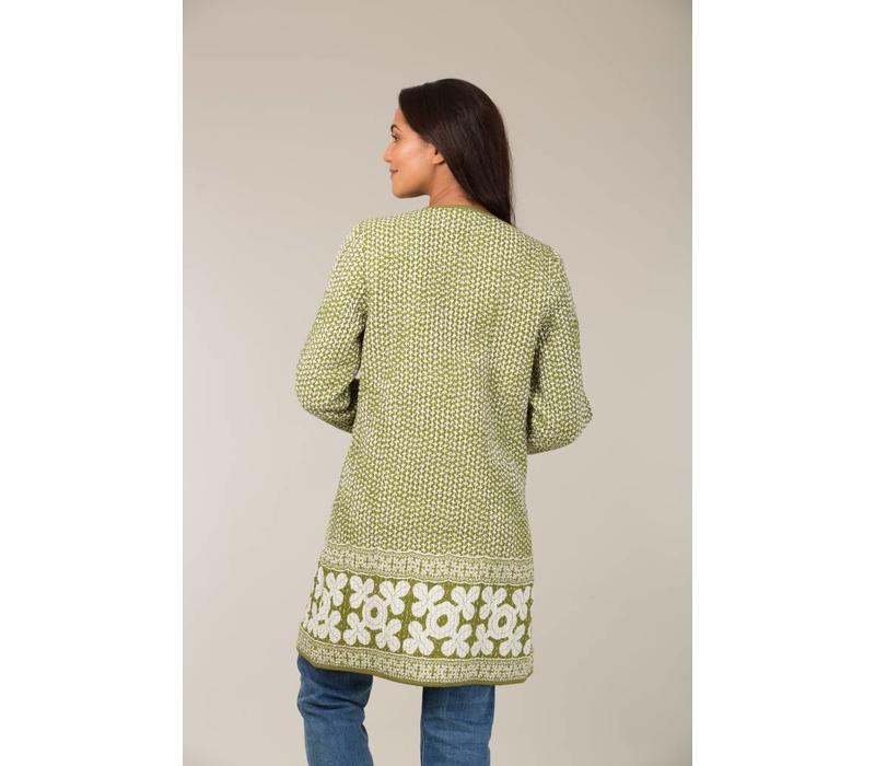 Jaba Reversible Coat in Green Grid