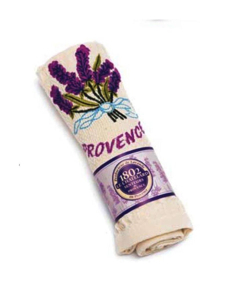 """Le Chatelard 1802 Handdoek geborduurd """"Provence"""" beige 40x60cm"""