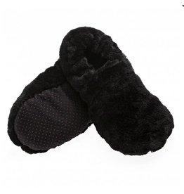 Pelucho Lavendel warmtekussen pantoffels - zwart
