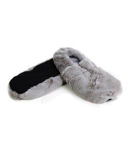 Pelucho Lavendel warmtekussen pantoffels - grijs