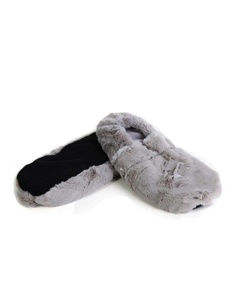 Pelucho Lavendel warmte pantoffels - grijs