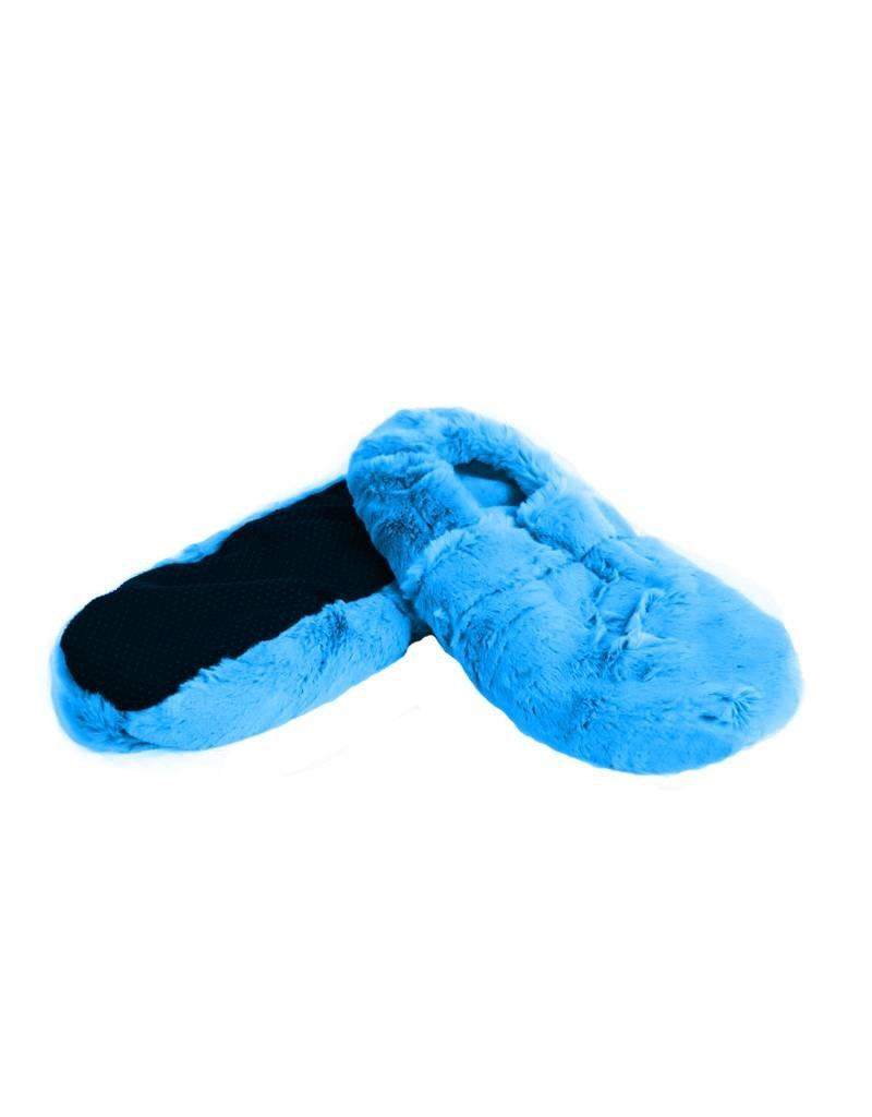 Pelucho Lavendel warmtekussen pantoffels - lichtblauw