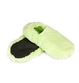 Pelucho Lavendel warmtekussen pantoffels - groen