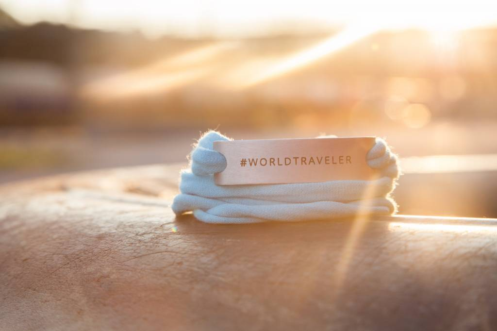 #WORLDTRAVELER - silber