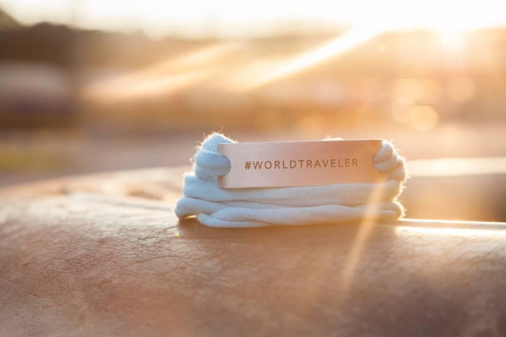 #WORLDTRAVELER - SILVER