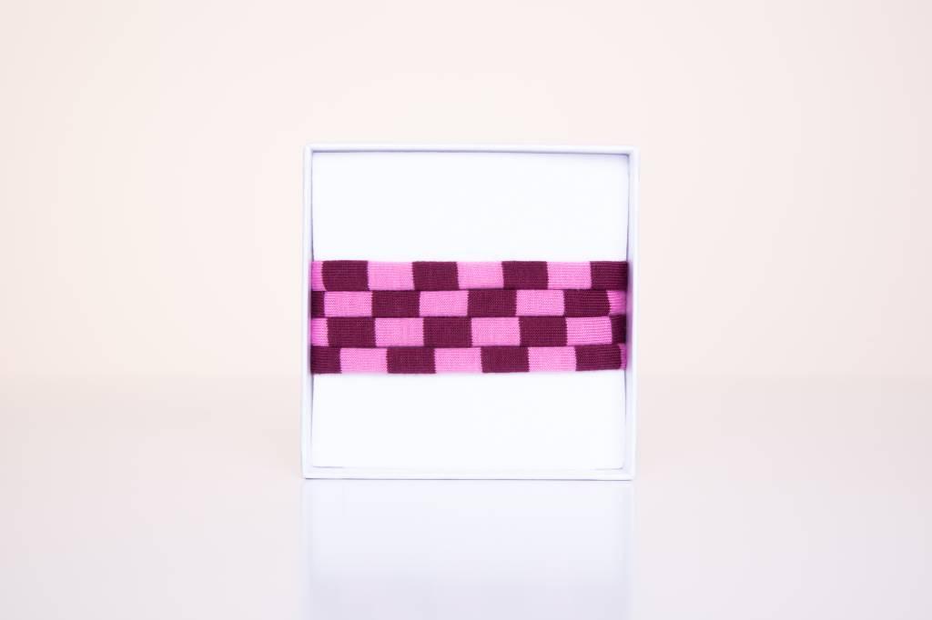 Limited Edition: Weinrot-Rosa gestreift