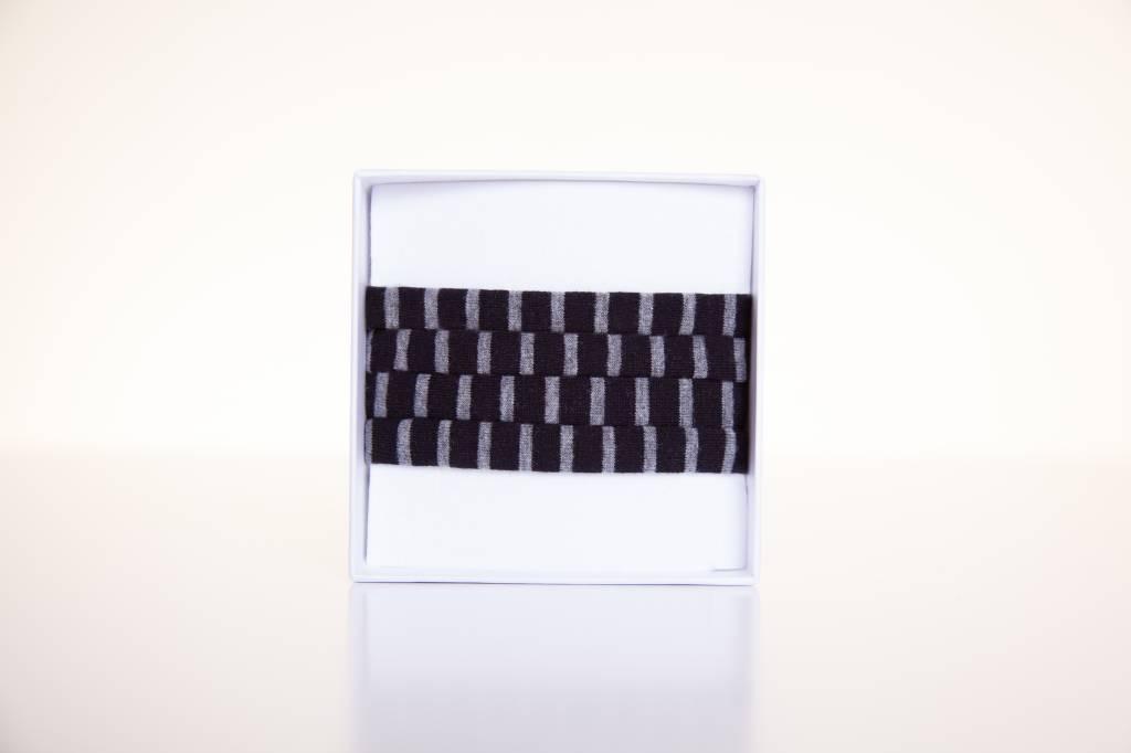 Limited Edition:  Schwarz-grau gestreift