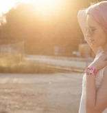Limited Edition: Pink-Weiß quer gestreift