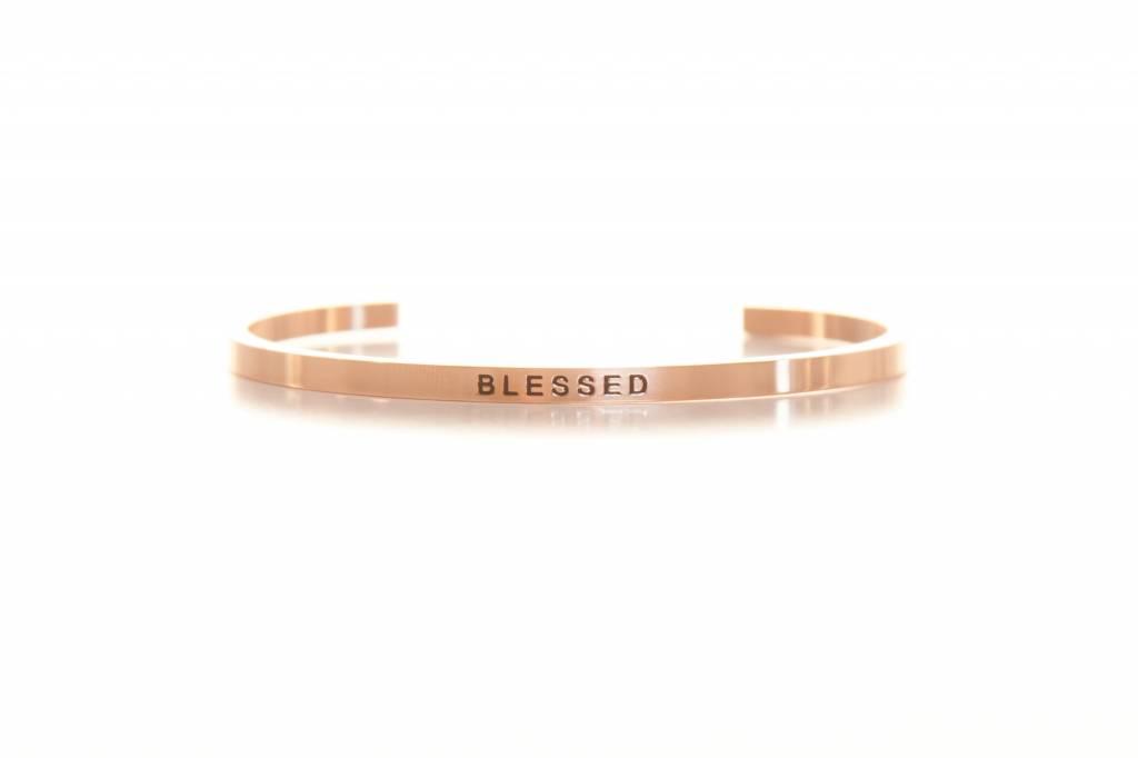 """""""BLESSED"""" - Armreifen rosegold"""