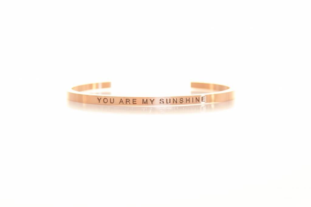 """""""YOU ARE MY SUNSHINE"""" Armreifen ROSEGOLD"""