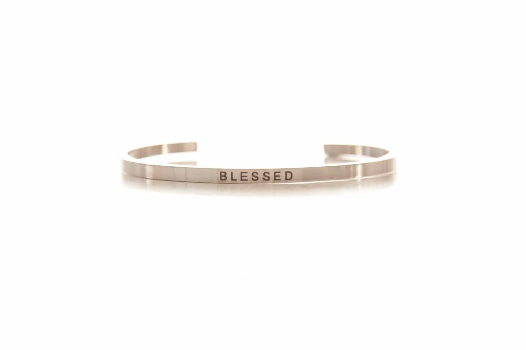 """BLESSED"" - Bangle silver"