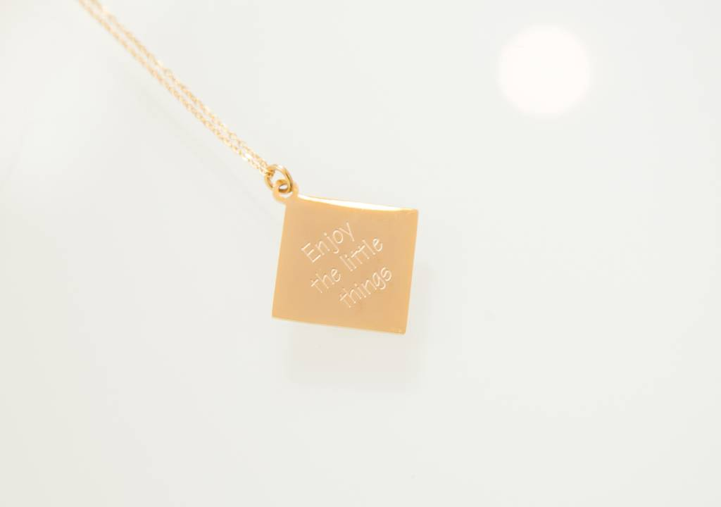 """Enjoy the little things"" - Necklace  GOLDEN"