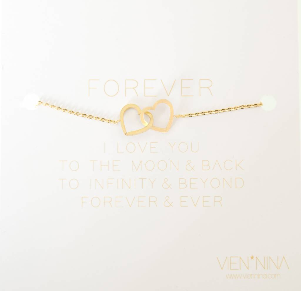 HEARTS- Bracelet - Golden