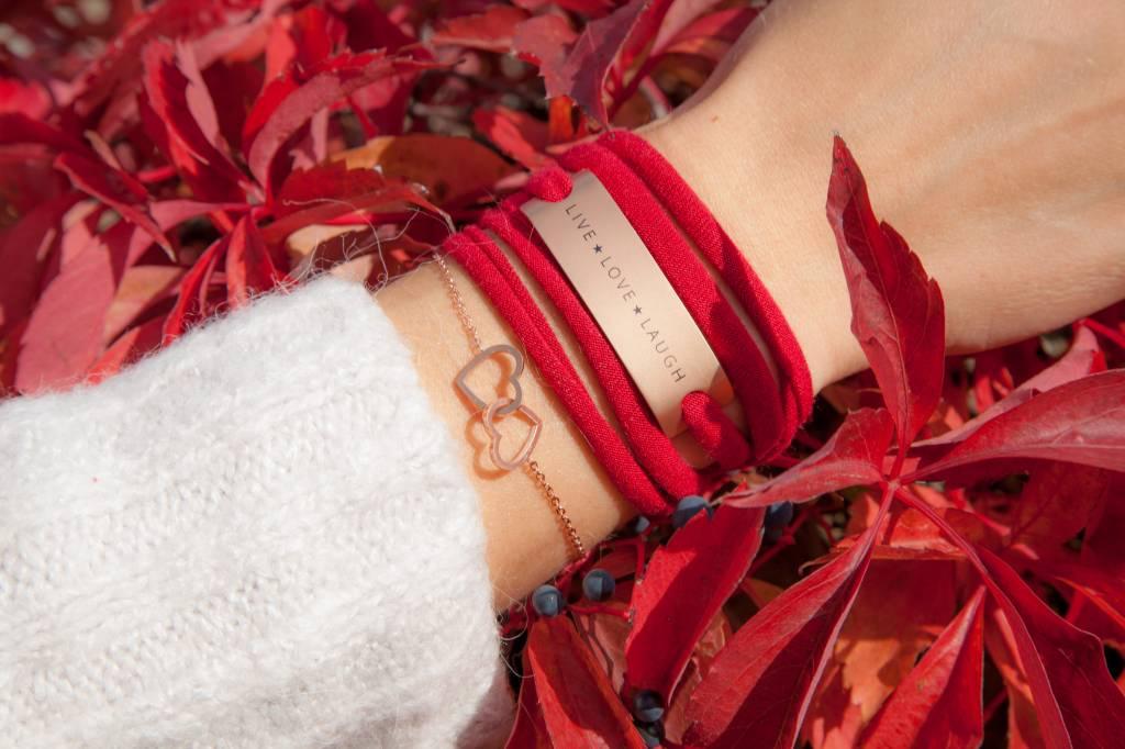 "FOREVER ""HEARTS"" - Armkettchen / Rose"